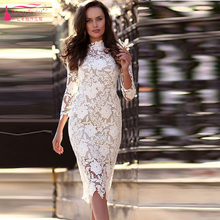 High Neck Abendkleid Meerjungfrau Abendkleid Spitze Elegante Kleid Formale Tragen Homecoming Kleider Z282