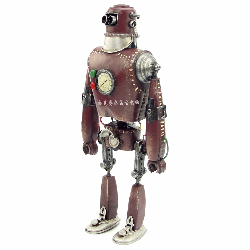 Retro Iron, American Punk, Robot Decoration, Creative Metal Arts And Crafts, Living Room, Bookcase Decoration