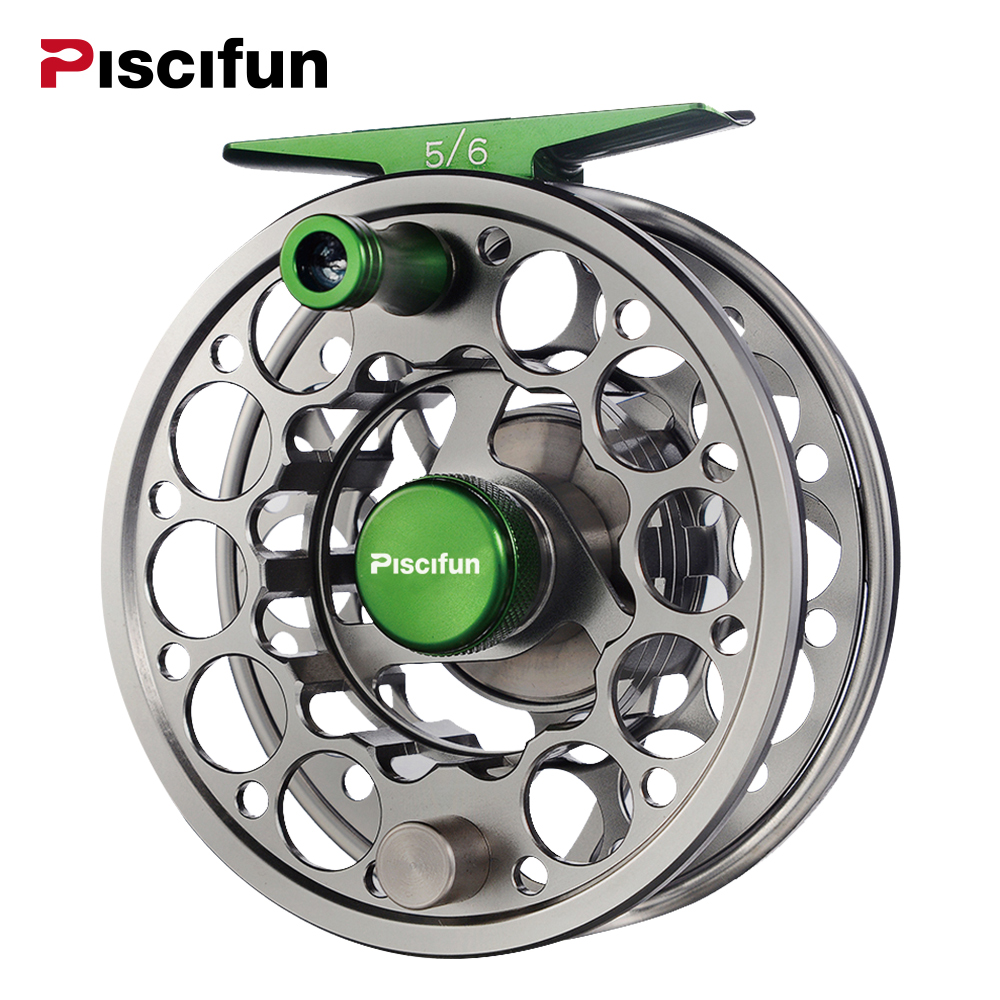 Piscifun Sword Fly Reel with CNC-machined Aluminium Material 3/4/5/6/7/8/9/10 WT Right Left Handed Fly Fishing Reel Gunmetal 7 8 left