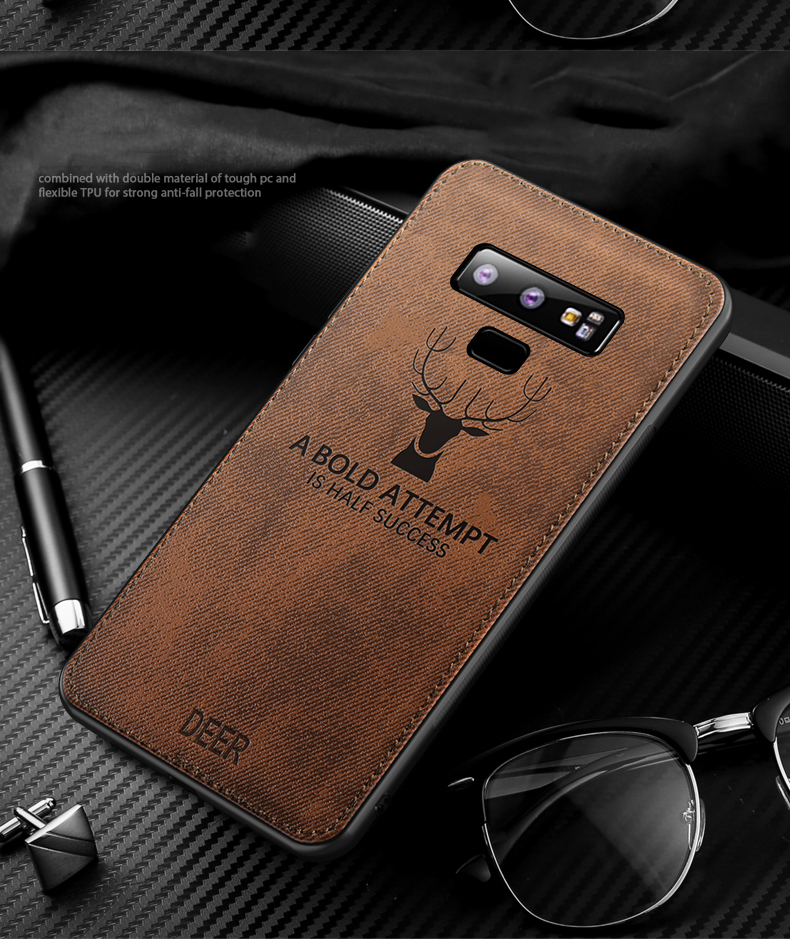 Luxury Cloth Texture Case For Samsung Galaxy S10e S9 S10 Plus Note 8 9 Shockproof Cover For Galaxy A6 J4 2018 Soft Silicone Case