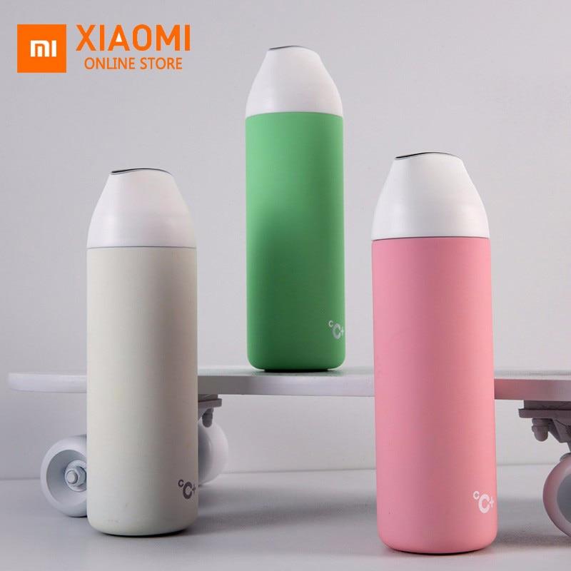 Original Xiaomi mijia kiss kiss fish smart Vacuum insulation bottle with 3 filter OLED Temperature Screen