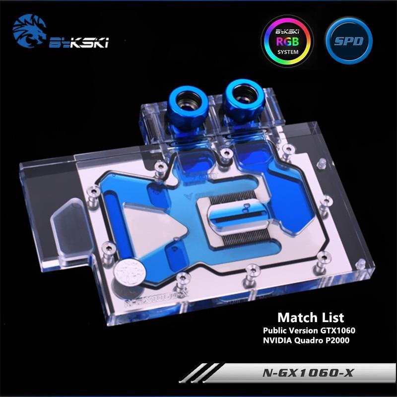 Bykski Full Coverage GPU Water Block For VGA Public Version Founders GTX 1060 Graphics Card N GX1060 X