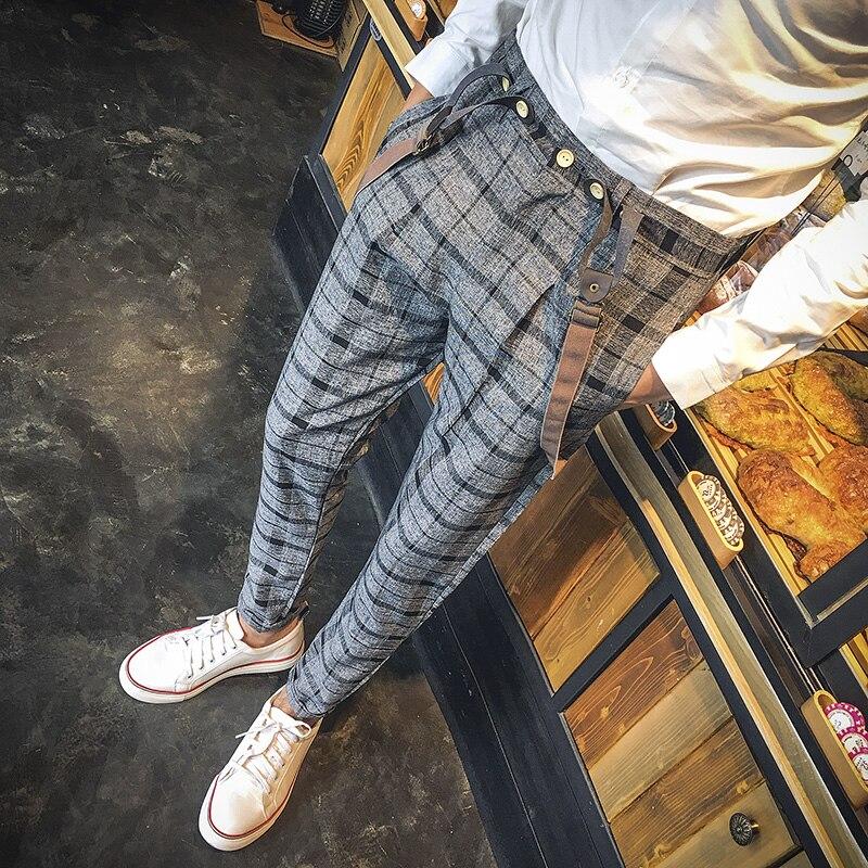 2 Style 4 Pantalones 1 Británica Corea 2017 Nuevo style 3 style style Tirantes Ropa xxl Casual Bib Moda Personalidad Trajes Rayas S xB6qwFT1