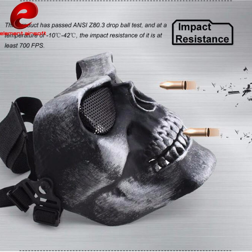 Element Tactical Paintbal Military Mask Protective Hunting War Game Protective Tactical Skull Mask Steel net CY332 CY333