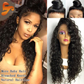 High Density Front Lace Wigs Full Lace Human Hair Wigs With Baby Hair Malaysian Curly Human Hair Lace Front Wigs For Black Women