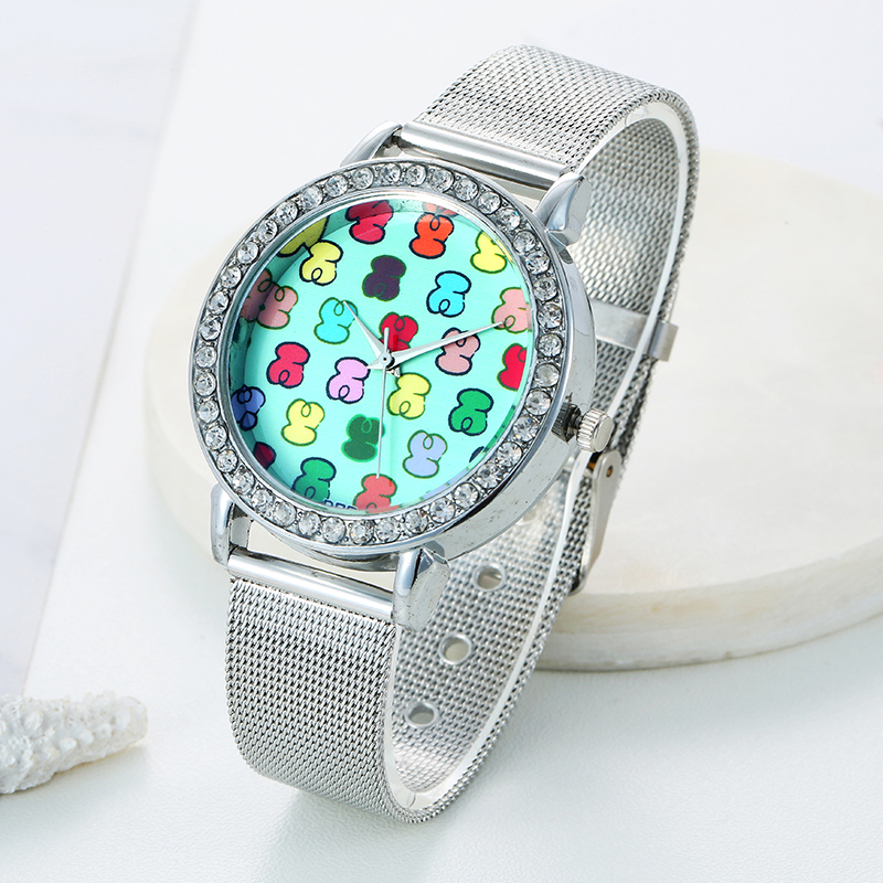 2019 New DQG Women Silver Metal Mesh Stainless Steel Watches Women Casual Quartz Watch Relogio Feminino Colorful Watch Hot Clock in Women 39 s Watches from Watches
