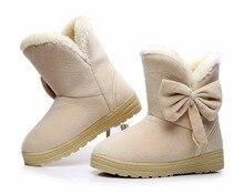 Теплая Зима Снег Сапоги Боути Ботинки Женщин Стекаются Внутри Платформы Лодыжки Сапоги Повседневная Квартиры Удобная Обувь Женская обувь