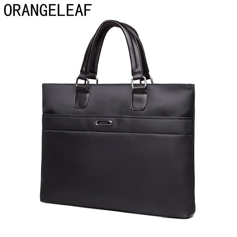 Business Men Briefcase Bag Nylon Oxford Black Blue Luxury Designer Laptop Bag Office Large Capacity Briefcase