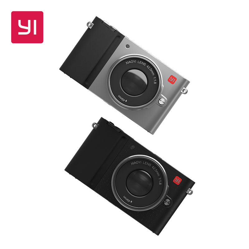 YI M1 Mirrorless Digital Camera With YI 12-40mm F3.5-5.6 Zoom Lens LCD International Version RAW LCD 20MP Video Recorder 720RGB original yi m1 wifi 4k digital camera with standard lenses black