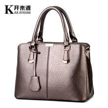 KLY 100% Genuine leather Women handbags 2016 new Korean female stereotypes sweet fashion handbag Crossbody Shoulder Handbag