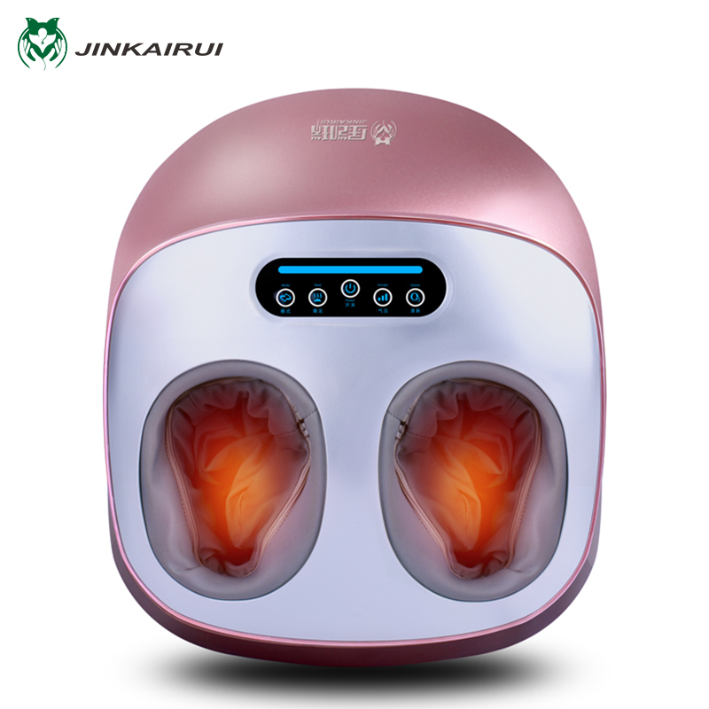 JinKaiRui Electric Vibrator Foot Massager Health Care Massage Infrared Heating Therapy Shiatsu Kneading Air Pressure Machine electric antistress foot massager vibrator foot health care heating therapy shiatsu kneading air pressure foot massage machine
