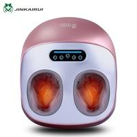JinKaiRui Electric Foot Massager Health Care Massage Infrared With Heating Therapy Shiatsu Kneading Air Pressure Machine