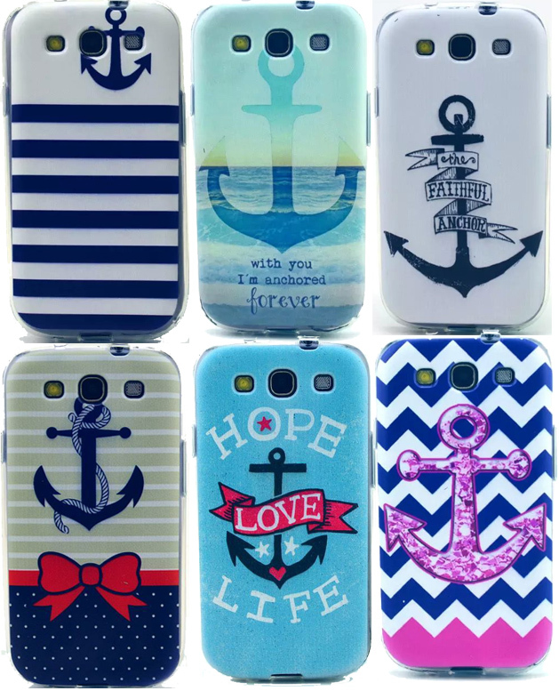 22 Style Sea Anchor Cases Collection Silicon Gel back cover sFor Samsung Galaxy S3 III Neo GT-i9300 / i9300i i9305 Shell Funda - Lyn-K Electronic Co., Ltd store
