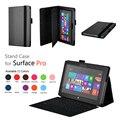 Surface Pro Stand Funda de piel Para Windows Surface Pro 2 del Soporte del tirón Caso de la Cubierta de Cuero de 10.6 pulgadas de regalo protector