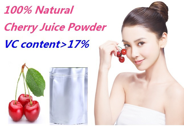 Wholesale 1000g/bag Coniferous cherry VC juice powder VC Content>17% 100% Natural 20%off epiphone faded g 400 worn cherry