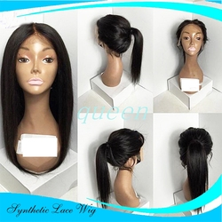 Lace front synthetic wigs full lace wig with baby hair natural black synthetic front lace wigs.jpg 250x250