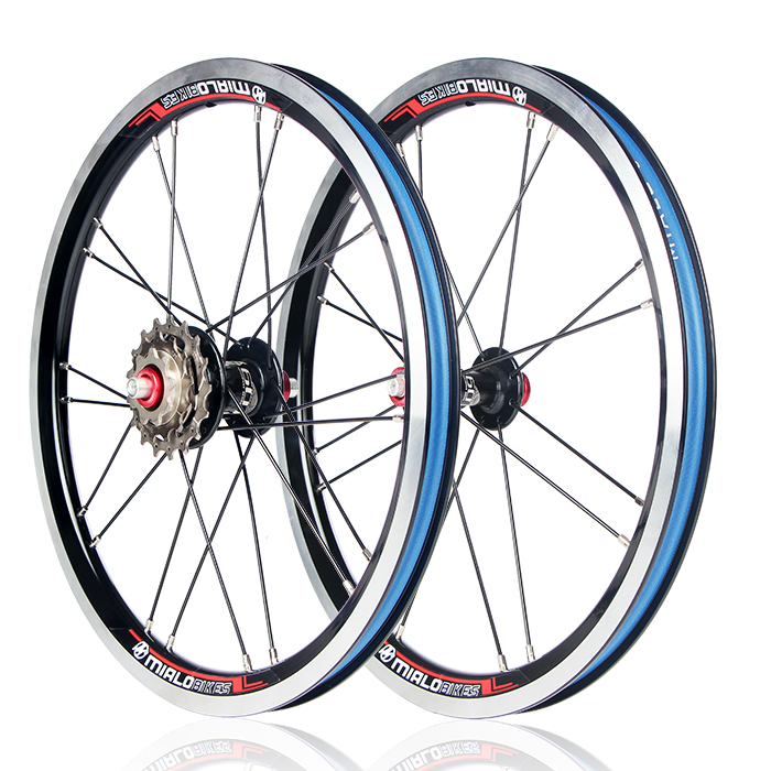 Mialo 16inch External 3 speed 9/13/17T folding bike wheelset 16 inch alloy wheel BMX wheel bmx недорого с 9 до 13 лет с передним тормозами задним