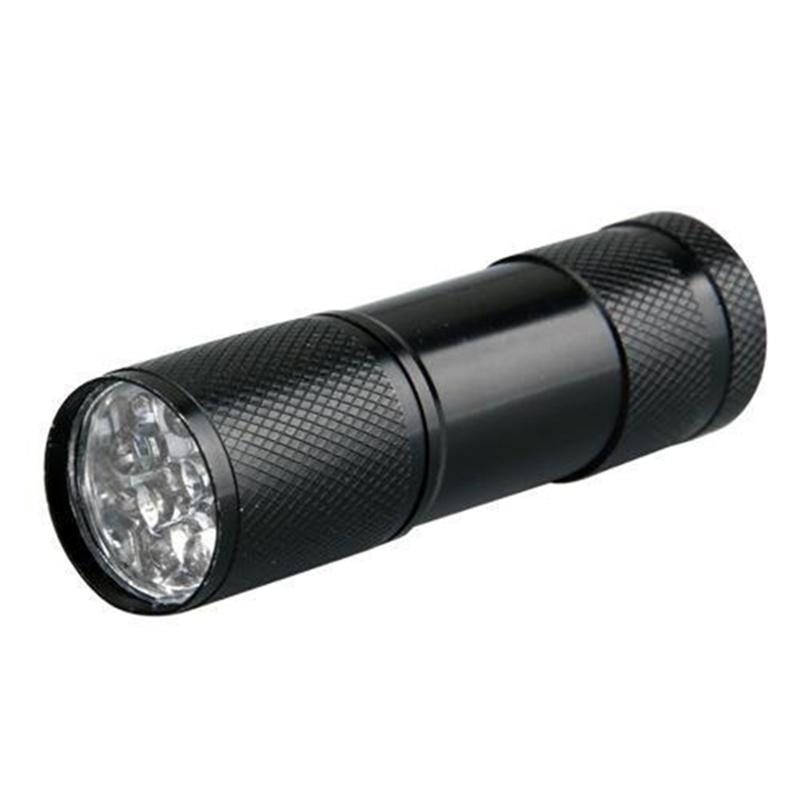 5pcs Mini Mulltifunction Battery Powered UV Ultraviolet 9-LED Flashlight Torch Light Blacklight For Camping Hiking Out