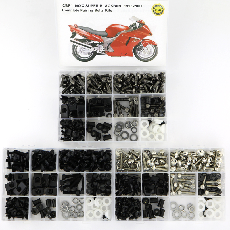 For Honda CBR1100XX 1997 2007 Complete Full Fairing Bolts Kit Motorcycle Covering Complete Fairing Clips Screws Bolts Nuts KitFull Fairing Kits   -