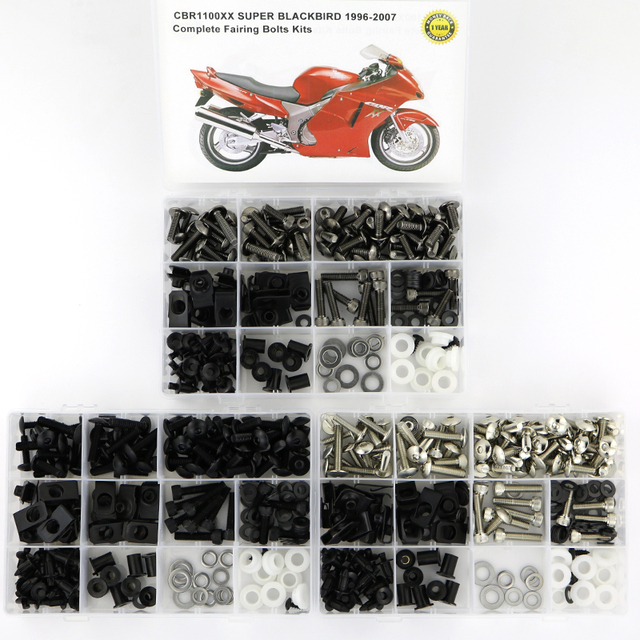 For Honda CBR1100XX 1997 2007 Complete Full Fairing Bolts Kit Motorcycle Covering Complete Fairing Clips Screws Bolts Nuts Kit