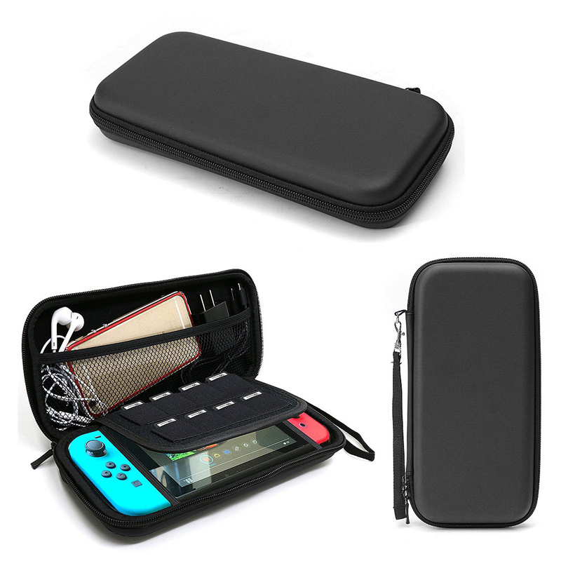 EVA Protective Hard Case Shell Travel Carrying Game Console Storage Bag Holder Pouch For Nintend Switch Console With Hand Strap eva protective hard case shell travel carrying game console storage bag holder pouch for nintend switch console with hand strap