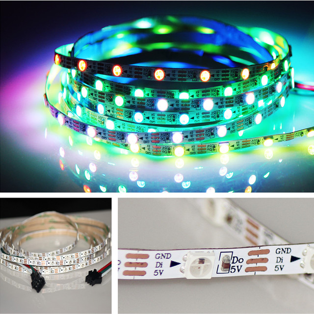 US $10 2  SK6812 Chip Digital LED Strip RGB For Neopixel SPI 5V Non  Waterproof IP20 3535 RGB IC Tape-in LED Strips from Lights & Lighting on