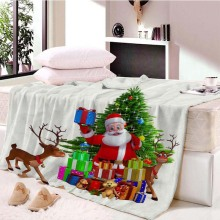 Decorations Christmas Decorations for Home Sofa Blanket Europe Coral Fleece Portrait Santa Claus Fabric Kids Blankets for Beds claus offe europe entrapped