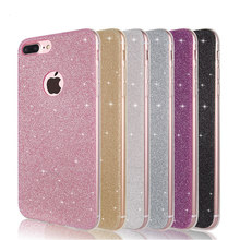 Luxury Glitter Phone Case For iPhone 6 S 6s 7 8 Plus X 10 XS Max XR 5 5S SE Bling Soft Back Cover For iPhone 8 8Plus Coque(China)