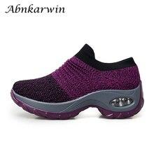 Носок кроссовки женские кроссовки увеличивающие рост Спортивная обувь дышащая сетка Женская обувь эластичная zapatillas mujer deportiva