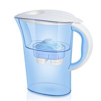 Candimill 2.5L Water Pitcher Filter Home Water Jug Activated Carbon Filter for Health Drink Remove Chlorine Deposits,