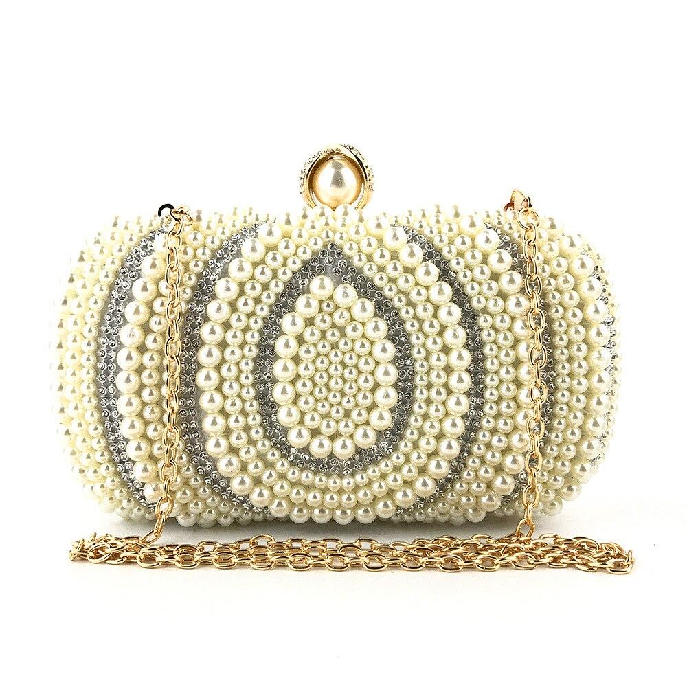 2019 sac pour femmes nouvelle mode perle de haute qualité à la main perlé chaîne bandoulière épaule pour femmes dames dîner sacs de soirée