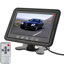 Nueva marca de 7 Pulgadas TFT LCD independiente de Dos vías de Entrada de Vídeo Del Coche Reposacabezas Monitor con Una Función de TR compatible con DVD, VCR, cámara, GPS