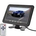 Nova marca de 7 Polegada TFT LCD Stand-alone Two-way Entrada De Vídeo Do Carro Encosto de Cabeça com Monitor Embutido TR suporta DVD, VCR, câmera, GPS