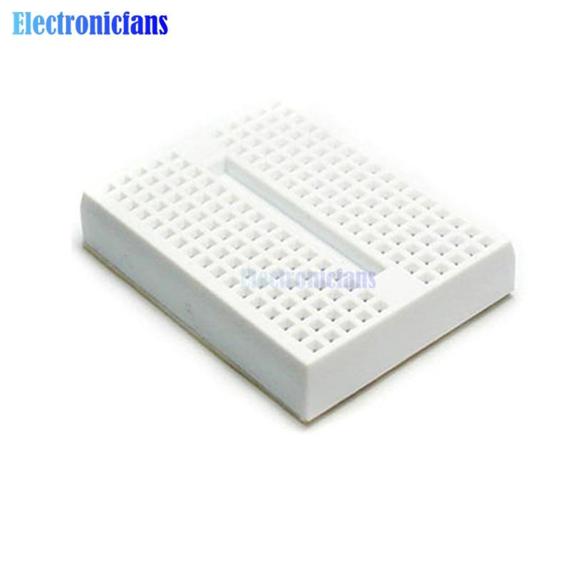 1 X White Solderless Prototype Breadboard 170 Tie-points For Arduino Shield