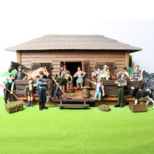17PCS Assorted Simulation Farmer people Model Action Figures PVC Doll  Farm Staff Figures Playsets Educational Toys for kids
