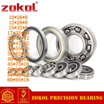 ZOKOL 6000 6001 6002 6003 6004 6005 6006 6007 6008 6009 ZZ RS deep groove ball bearing stainless steel bearings image