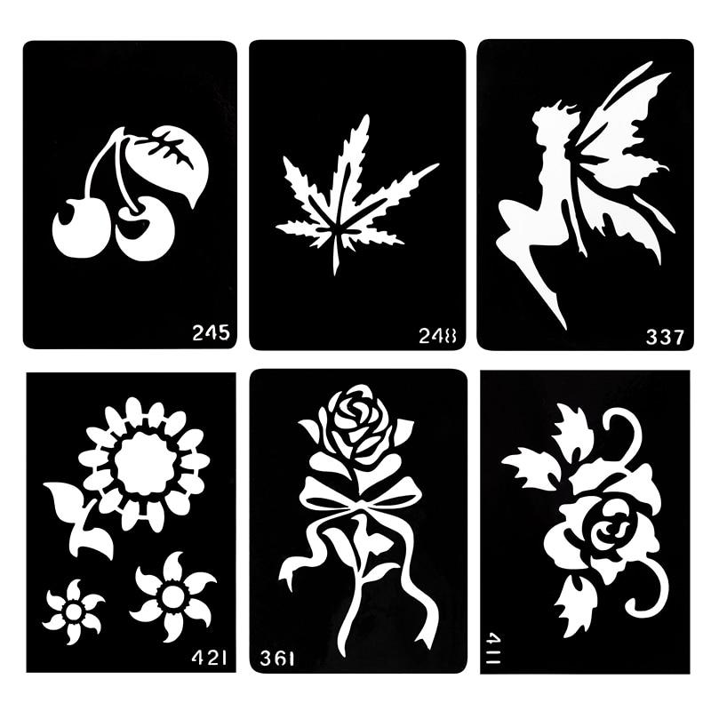ᐅwxs 20 piece glitter tattoo stencil neck tattoos designs henna