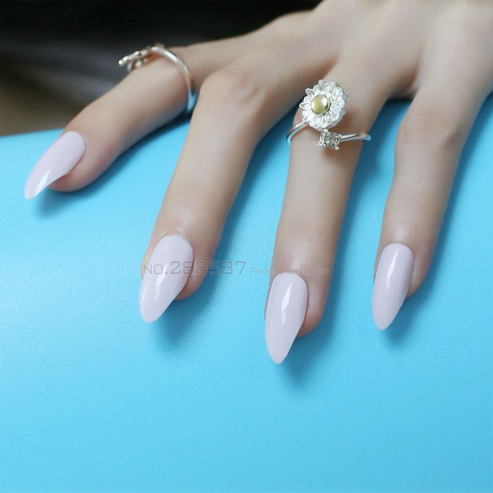 Pure colour New mountain peak Designs Pink Artificial nail Fashion ...