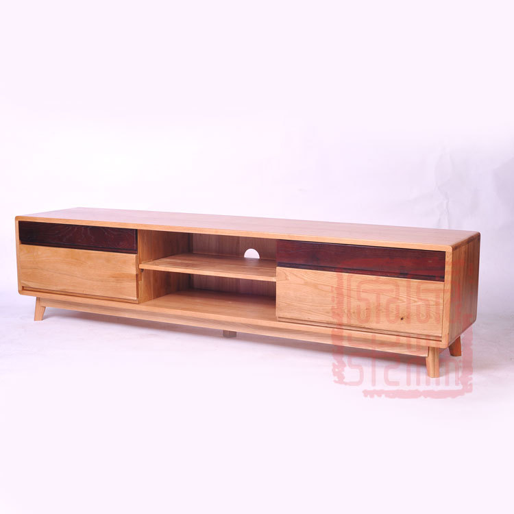 Japanese original nordic small apartment wood white oak tv cabinet minimalist modern ikea living - Ikea furniture for small spaces minimalist ...