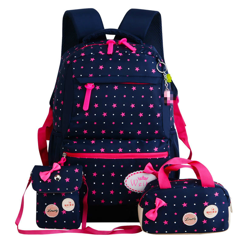 3T Set Backpack Schulrucksack School Backpack+Pencil Case+Lunchpaket Rucksäcke