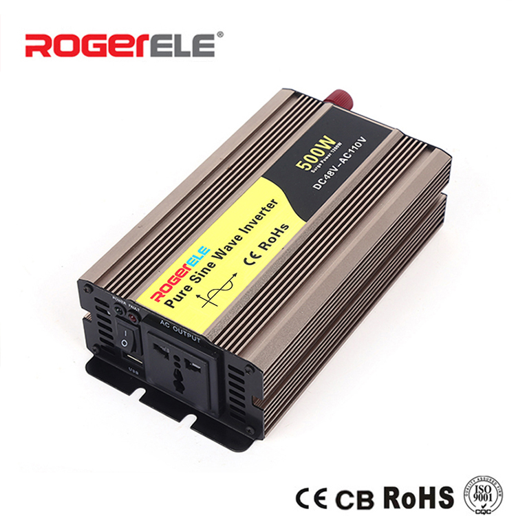 цена на 500W 12VDC/24VDC to 110VAC/220VAC Pure Sine Wave Inverter Computer On Car