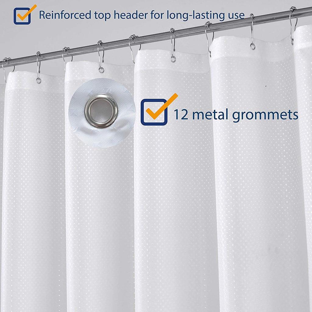 Diamond Thick Bathroom Curtain Waterproof Polyester Strip White Shower Curtains Mildew Thickening Bathroom