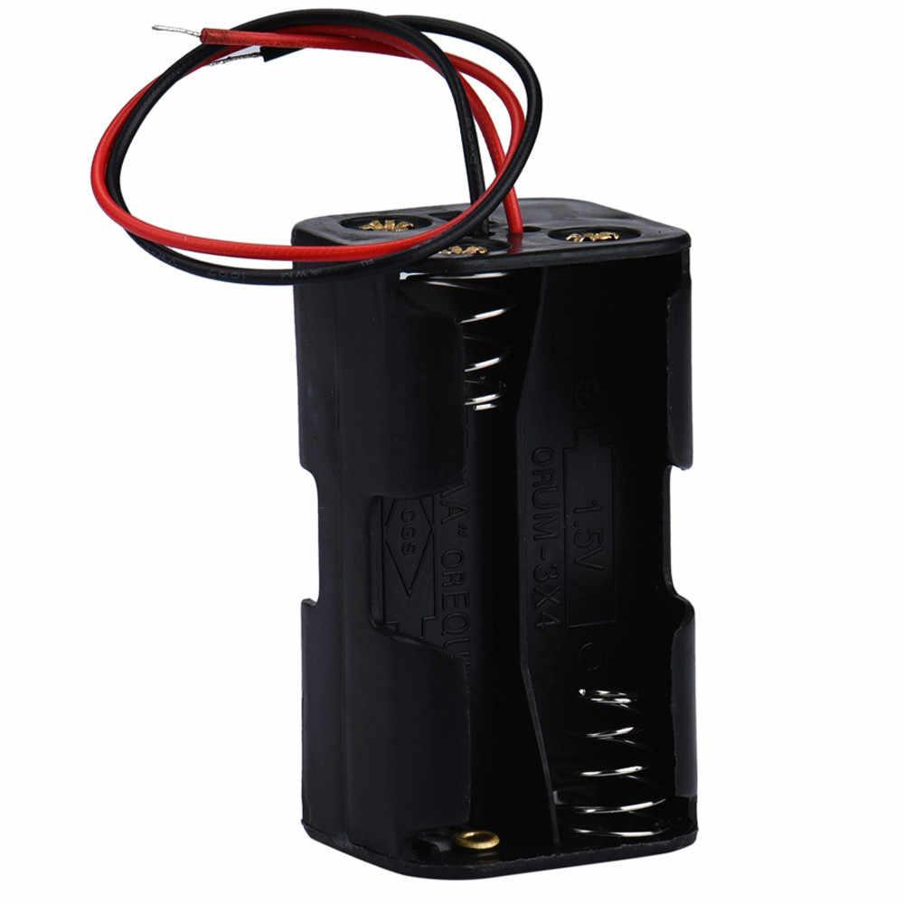 حار 2-فتحة 4 x AA البطارية العودة إلى الوراء حامل حالة مربع تخزين مع الخيوط الأسلاك Diy الطاقة البنك Iqos بطارية حامل 50