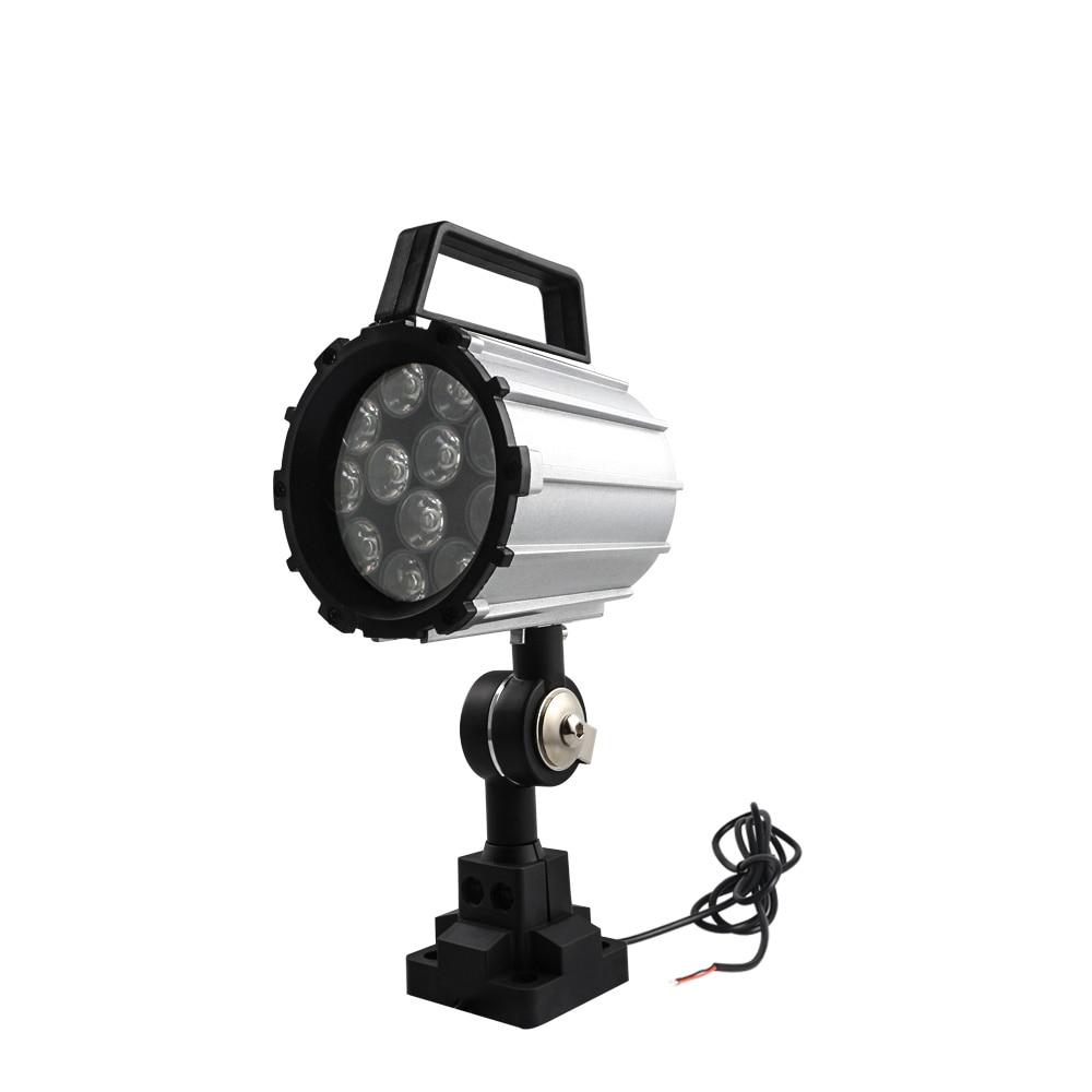 Éclairage industriel de Machine  lumière réglable de travail de LED de 7 W/12 W pour le tour  fraiseuse de CNC  lumières de Machine de forage bras court|LED Spots| |  -