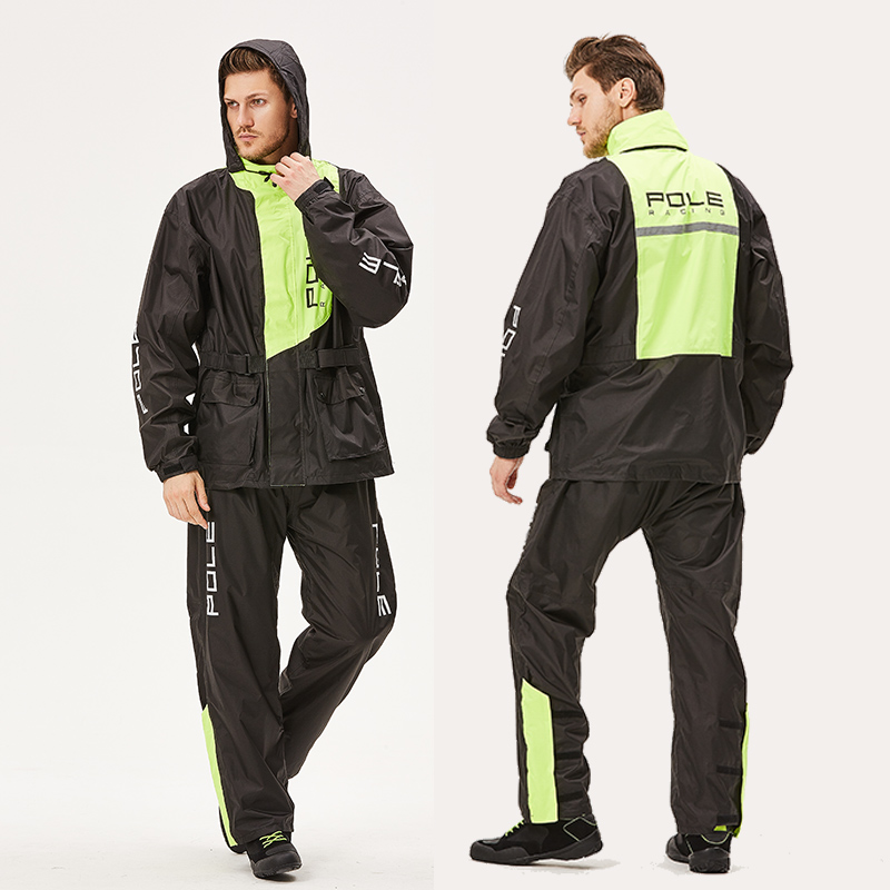 outdoor sports wind resistant Fashion Outdoor sports Wind-resistant jacket men waterproof rain coat suit.High Quality wear-resisting motorcycle raincoat (4)