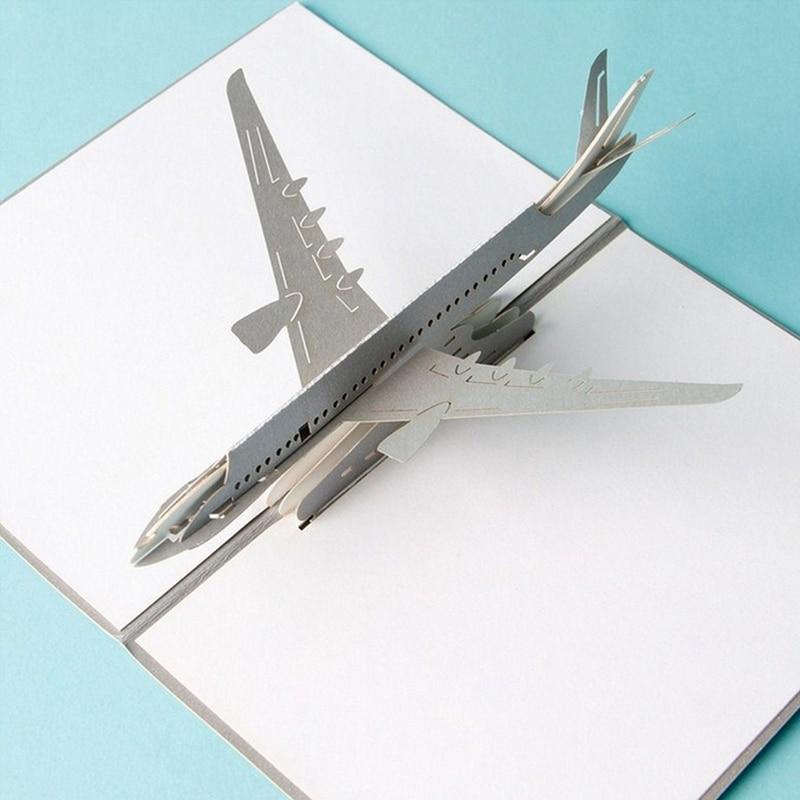 3D Pop Up Airplane Greeting Cards Christmas Birthday Valentine ...