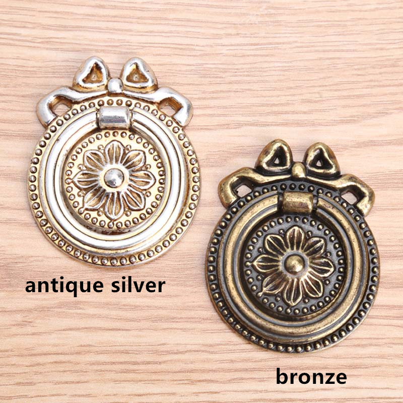vintage style dresser knobs handles antique silver drawer cabinet pulls knobs bronze drop rings retro furniture hardware knobs vintage style golden silver black antique brass bronze antique copper lionhead drawer cabinet knobs pulls handle retro furniture