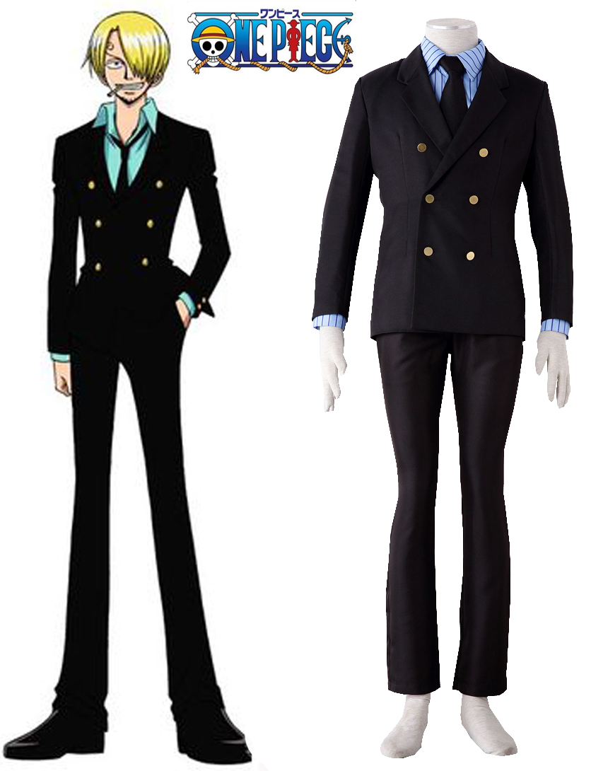 Free shipping Anime ONE PIECE Cosplay Vinsmoke Sanji Two years suit Man Woman Cosplay Costume white