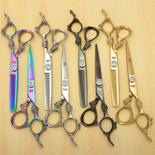 "6.0"" 17.5cm KASHO Professional Human Hair Scissors Hairdressing Shears Cutting Shears Thinning Scissors Big Dragon Handle H9004"