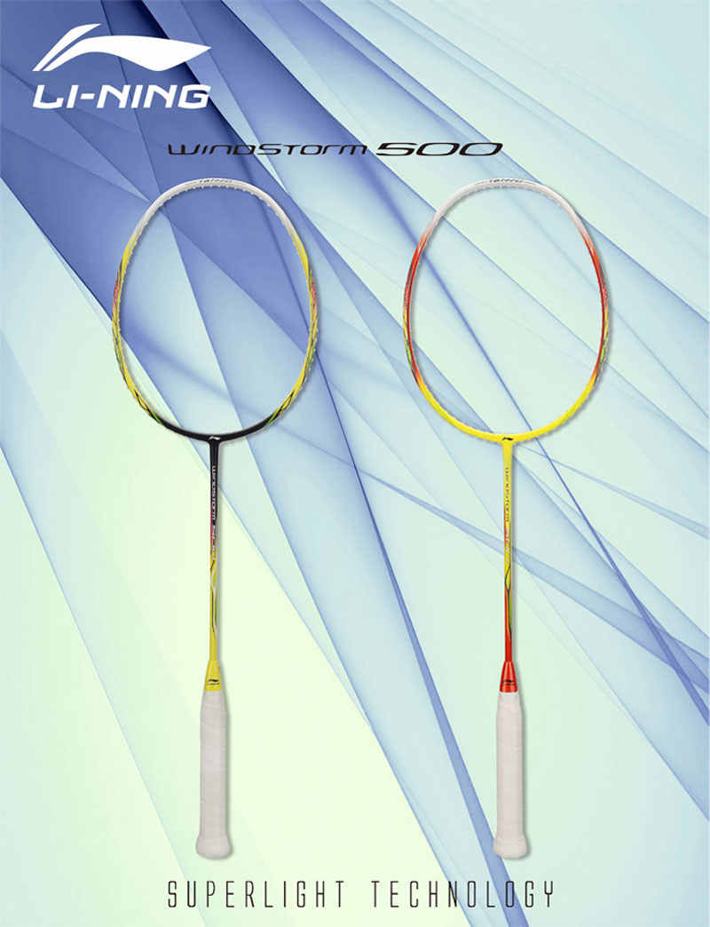 Li-Ning WINDSTORM 500 Badminton Racket Light LiNing Single Sports Rackets AYPK014